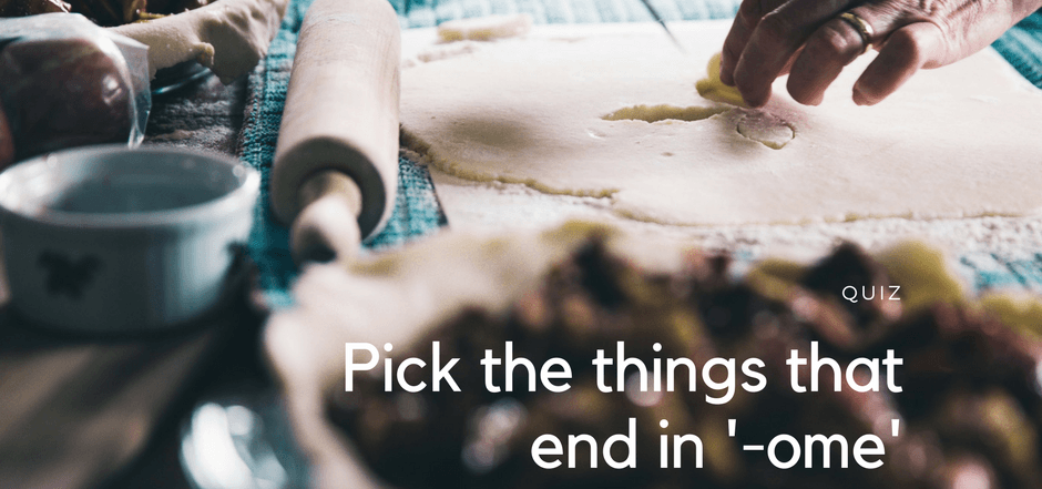 Pick the things that end in '-ome'