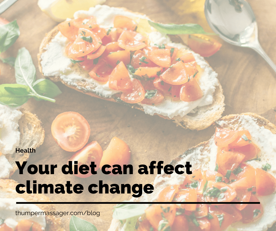 Your diet can affect climate change