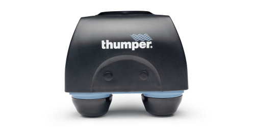 Patented Thumper Action sends energy perpendicular into tissue, penetrates through all fascial layers relieving muscular tension and fatigue.
