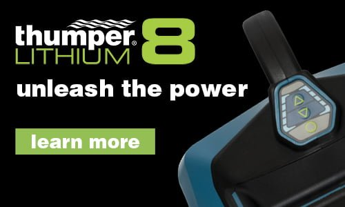 Thumper Lithium8 cordless battery powered professional percussive massager